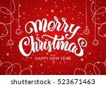 vector illustration.  merry... | Shutterstock .eps vector #523671463