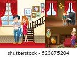 family members in different... | Shutterstock .eps vector #523675204