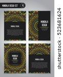 tribal mandala design set.... | Shutterstock .eps vector #523681624