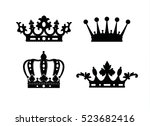 crown isolated on white... | Shutterstock .eps vector #523682416