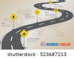 design template  road map... | Shutterstock .eps vector #523687213