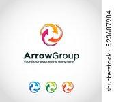 arrow group logo template... | Shutterstock .eps vector #523687984
