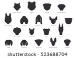 Vector Silhouette Of Dog Breed...
