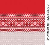 festive sweater design.... | Shutterstock .eps vector #523688710