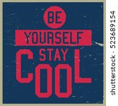 cool awesome slogans typography ... | Shutterstock .eps vector #523689154