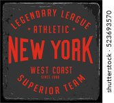 vintage varsity graphics and... | Shutterstock .eps vector #523693570