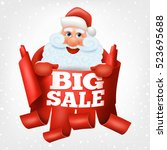 big sale santa claus christmas...   Shutterstock .eps vector #523695688