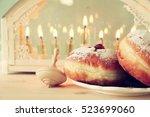 selective focus image of jewish ... | Shutterstock . vector #523699060