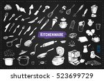 sketch icons kitchenware.... | Shutterstock .eps vector #523699729