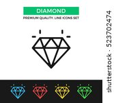 vector diamond icon. premium...