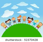 happy kids. | Shutterstock .eps vector #52370428