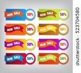 web sale banner | Shutterstock .eps vector #523704580