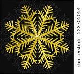 vector christmas calligraphic... | Shutterstock .eps vector #523705054