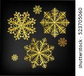 vector christmas calligraphic... | Shutterstock .eps vector #523705060