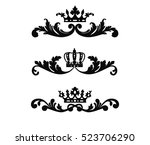 ornate scroll and decorative... | Shutterstock .eps vector #523706290