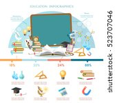 education infographic  open... | Shutterstock .eps vector #523707046