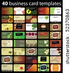 40 colorful business cards | Shutterstock .eps vector #52370863