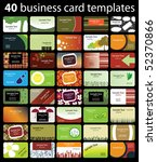 40 colorful business cards | Shutterstock .eps vector #52370866