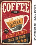 Coffee Shop Retro Tin Sign...