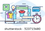 illustration online fashion... | Shutterstock .eps vector #523715680