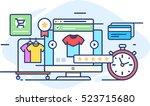 illustration online fashion... | Shutterstock .eps vector #523715680