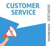 customer service announcement....   Shutterstock .eps vector #523716310