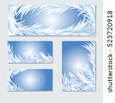 winter background. frosty... | Shutterstock .eps vector #523720918
