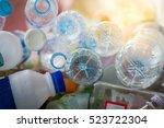 selective focus plastic bottle...   Shutterstock . vector #523722304