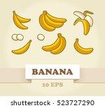 vector set of cartoon yellow... | Shutterstock .eps vector #523727290
