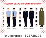 security guard uniform... | Shutterstock .eps vector #523728178