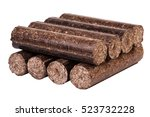 Small photo of briquette. wood briquettes. briquettes isolated on white background. firewood. biofuels. fuel. a natural source of energy