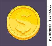 currency symbol  dollar symbol... | Shutterstock .eps vector #523733326
