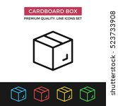vector cardboard box icon.... | Shutterstock .eps vector #523733908