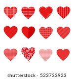 vector hearts set for wedding... | Shutterstock .eps vector #523733923