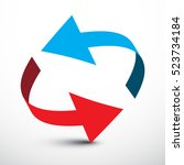 arrow. vector red and blue... | Shutterstock .eps vector #523734184