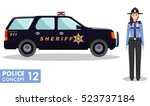 policeman concept. detailed... | Shutterstock .eps vector #523737184