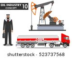 oil industry concept. detailed... | Shutterstock .eps vector #523737568