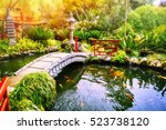 Japanese Garden With Swimming...