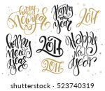 vector set of hand lettering... | Shutterstock .eps vector #523740319