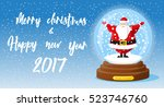 merry christmas and happy new... | Shutterstock .eps vector #523746760