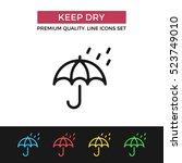 vector keep dry icon. packaging ...   Shutterstock .eps vector #523749010