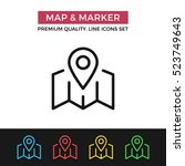 vector map and marker icon....