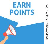 earn points announcement. hand... | Shutterstock .eps vector #523750126