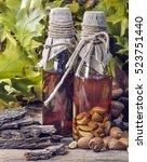 Small photo of Medicinal tinctures oak acorns and oak bark