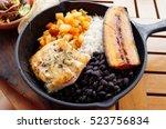traditional costa rican casado... | Shutterstock . vector #523756834