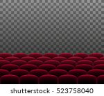rows of red cinema theater or... | Shutterstock .eps vector #523758040