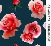 pattern of rose | Shutterstock . vector #523759450