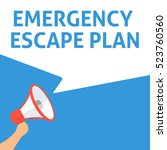 emergency escape plan... | Shutterstock .eps vector #523760560