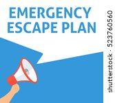 emergency escape plan... | Shutterstock .eps vector #523760560