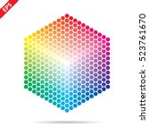 vector color palette. 331... | Shutterstock .eps vector #523761670